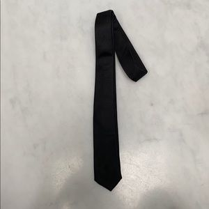 100% SILK BLACK TIE (TODDLER-AGE 6) MADE IN ITALY